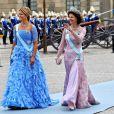 Samedi 19 juin 2010 : Le mariage de la princesse Victoria de Suède et de Daniel Westling, apothéose de leur conte de fées, a été béni par un incroyable cortège de royaux. La princesse Madeleine et la reine Silvia de Suède.