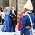 Samedi 19 juin 2010 : Le mariage de la princesse Victoria de Suède et de Daniel Westling, apothéose de leur conte de fées, a été béni par un incroyable cortège de royaux. Carl ohan Bernadotte et sa femme Gunilla.