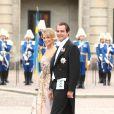 Samedi 19 juin 2010 : Le mariage de la princesse Victoria de Suède et de Daniel Westling, apothéose de leur conte de fées, a été béni par un incroyable cortège de royaux. Nikolaos de Grèce et Tatiana Blatnik.