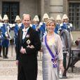 Samedi 19 juin 2010 : Le mariage de la princesse Victoria de Suède et de Daniel Westling, apothéose de leur conte de fées, a été béni par un incroyable cortège de royaux. Le comte et la comtesse de Wessex.