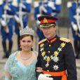 Samedi 19 juin 2010 : Le mariage de la princesse Victoria de Suède et de Daniel Westling, apothéose de leur conte de fées, a été béni par un incroyable cortège de royaux. Le grand duc Henri de Luxembourg et sa femme Maria Teresa.
