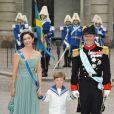 Samedi 19 juin 2010 : Le mariage de la princesse Victoria de Suède et de Daniel Westling, apothéose de leur conte de fées, a été béni par un incroyable cortège de royaux. Mary et Frederik de Danemark, avec leur fils Christian.