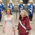 Samedi 19 juin 2010 : Le mariage de la princesse Victoria de Suède et de Daniel Westling, apothéose de leur conte de fées, a été béni par un incroyable cortège de royaux.