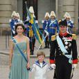 Samedi 19 juin 2010 : Le mariage de la princesse Victoria de Suède et de Daniel Westling, apothéose de leur conte de fées, a été béni par un incroyable cortège de royaux. Mary et Frederik de Danemark avec le prince Christian.