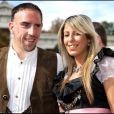 Franck Ribéry et sa femme Wahiba en octobre 2007