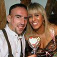 Franck Ribéry et sa femme Wahiba en octobre 2008