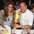 Franck Ribéry et sa femme Wahiba, le 16 mai 2010 à Munich