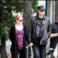 Marilyn Manson et Evan Rachel Wood sur le tournage de  Mildred Pierce , à New york, le 28 mai 2010