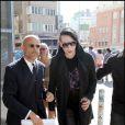 Marilyn Manson inaugure sa nouvelle exposition de peintures à la galerie Kunsthalle, à Vienne en Autriche, le 28 juin 2010.