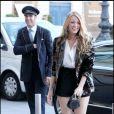 Blake Lively à son arrivée à l'hôtel Ritz le 5 juillet 2010 à Paris