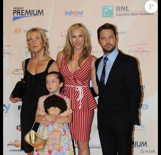 Sheri Elwood, Jason Priestley et sa femme Naomi Lowde à la 4e édition du festival de la fiction de Rome