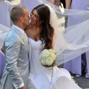 """Wesley Sneijder a épousé sa divine Yolanthe : découvrez les images de leur mariage """"cosi romantico"""" !"""
