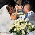 Wesley Sneijder, star du foot européen, a épousé la sublimissime Yolanthe Cabau van Kasbergen à Castelnuovo, en Toscane, le 17 juillet 2010 !