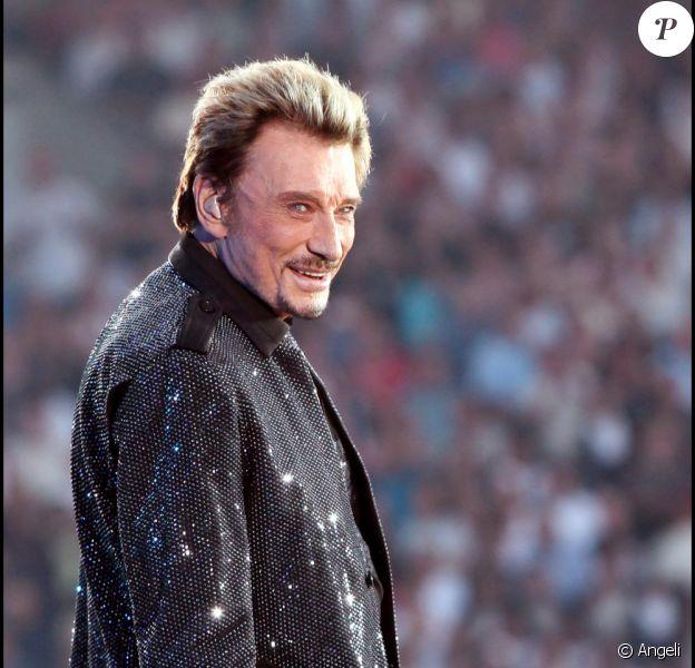 Johnny en concert pendant le Tour 66