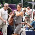Mila Kunis sur le tournage de  Friends with Benefits , à New York, le 23 juillet 2010.
