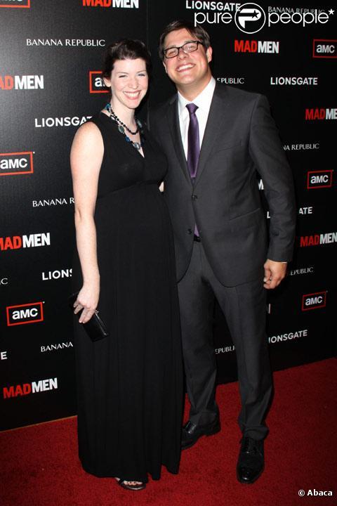 Rich Sommer et sa femme Virginia en juillet 2010 à Los Angeles