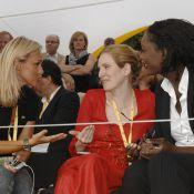 Cécile de Ménibus papote avec Nathalie Kosciusko-Morizet et Rama Yade... au lieu de regarder l'exploit de Contador !