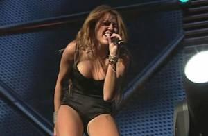 Regardez Miley Cyrus, 17 ans et plus indomptable que jamais, mettre le feu en concert à Madrid !