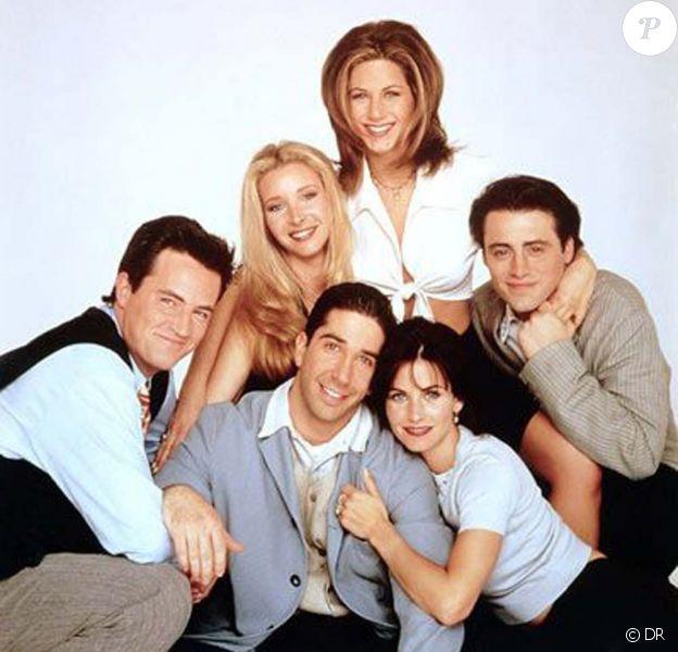 Friends : Courteney Cox, Lisa Kudrow, Matt Leblanc, Jennifer Aniston, David Schwimmer, Matthew Perry