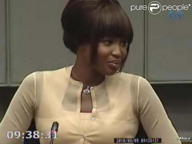 Naomi Campbell témoigne au procès de Charles Taylor, à La Haye, le 5 août 2010