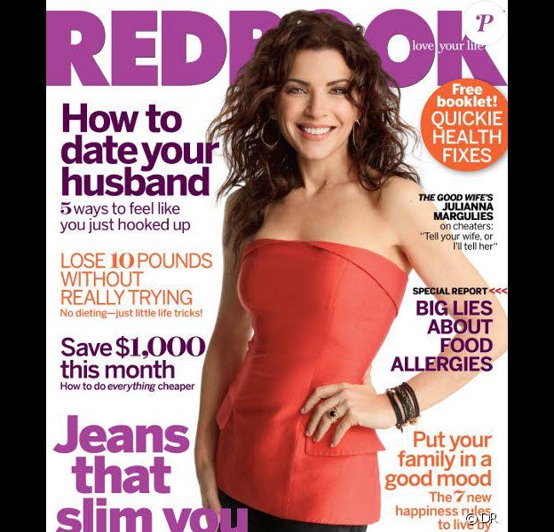 Julianna Margulies en couverture du magazine Redbook du mois de septembre 2010