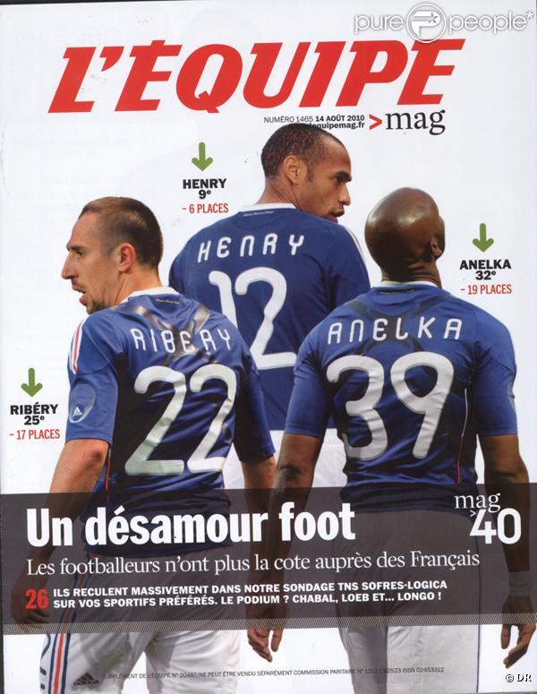 Le Mag 40, classement des sportifs les plus populaires par  L'Equipe Magazine , a rendu son verdict : Sébastien Chabal est 1er, devant Sébastien Loeb et Jeannie Longo. Certains footballeurs stars dégringolent (Henry, Anelka, Ribéry).