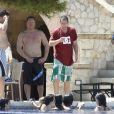 Adam Sandler en vacances à Palma de majorque, en Espagne