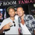 Pharell et Jean-Roch au VIP Room de Saint Tropez le 21/08/10