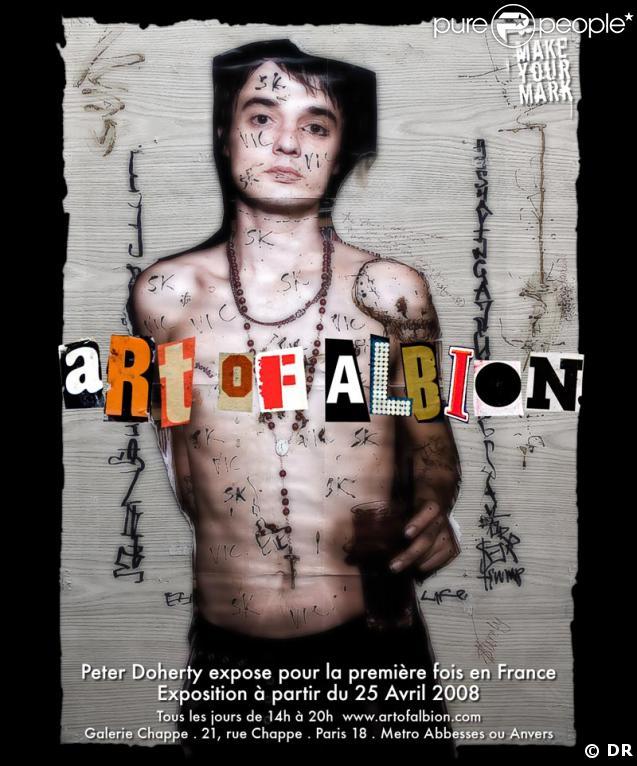 Pete Doherty expose son art à Paris : Art of Albion