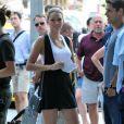 Blake Lively sur le tournage de Gossip Girl, le 31 août 2010
