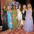 Nicole Coullier, Cyrielle Clair, Katia Toledano, Anouchka Delon, Véronic DiCaire et Arielle de Rothschild lors du Grand Bal de Deauville, le 28 août 2010