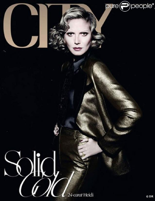 Heidi Klum version Marlene Dietrich en couverture de City Magazine