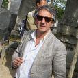Richard Anconina, lors des obsèques d'Alain Corneau, au cimetière du Père-Lachaise, à Paris, le 4 septembre 2010.