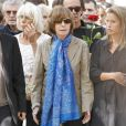 Nadine Trintignant, lors des obsèques d'Alain Corneau, au cimetière du Père-Lachaise, à Paris, le 4 septembre 2010.