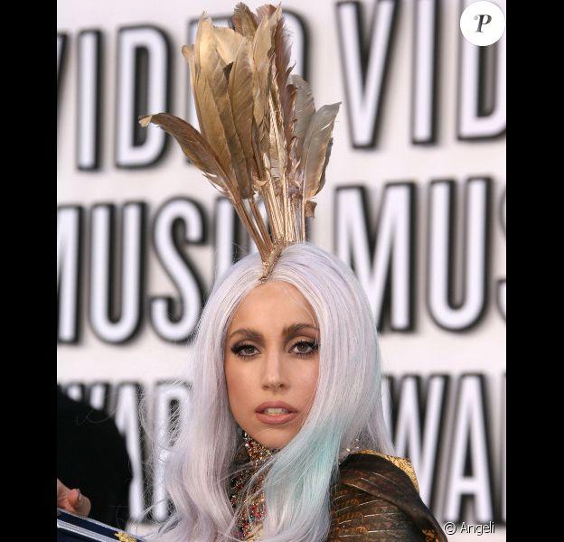 Lady Gaga lors des MTV Video Music Awards 2010 à Los Angeles, le 12 septembre 2010