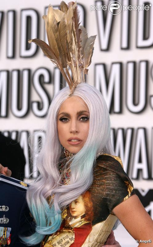 Lady Gaga lors des MTV Video Music Awards 2010 à Los Angeles, le 12 septembre 2010