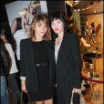 Emilie Dequenne et Delphine Chanéac à la présentation de la collection Tweety by Cathy Guetta pour André, aux Galeries Lafayette, à Paris