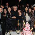 Les Lelouch, Sarah, Salomé, Audrey Dana, Claude, Sabaya, Valérie, Tess et Sachka lors de la soirée à L'Arc pour fêter la sortie de Ces Amours-là et les 50 ans des Films 13 à Paris le 12 septembre 2010