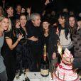 Sarah Lelouch, Salomé Lelouch, Audrey Dana, Claude Lelouch, Sabaya  Lelouch, Valérie, Tess, Sachka lors de la soirée à L'Arc pour fêter la  sortie de Ces Amours-là et les 50 ans des Films 13 à Paris le 12  septembre 2010