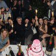 Sarah Lelouch, Salomé Lelouch, Audrey Dana, Claude Lelouch, Sabaya  Lelouch, Valérie, Tess, Sachka, Simon lors de la soirée à L'Arc pour fêter la  sortie de Ces Amours-là et les 50 ans des Films 13 à Paris le 12  septembre 2010