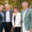 Ariane Massenet, Alain Baraton, Catherine Laborde et Nelson Monfort. (14 septembre 2010, Fête du Houblon au Pavillon Ledoyen)
