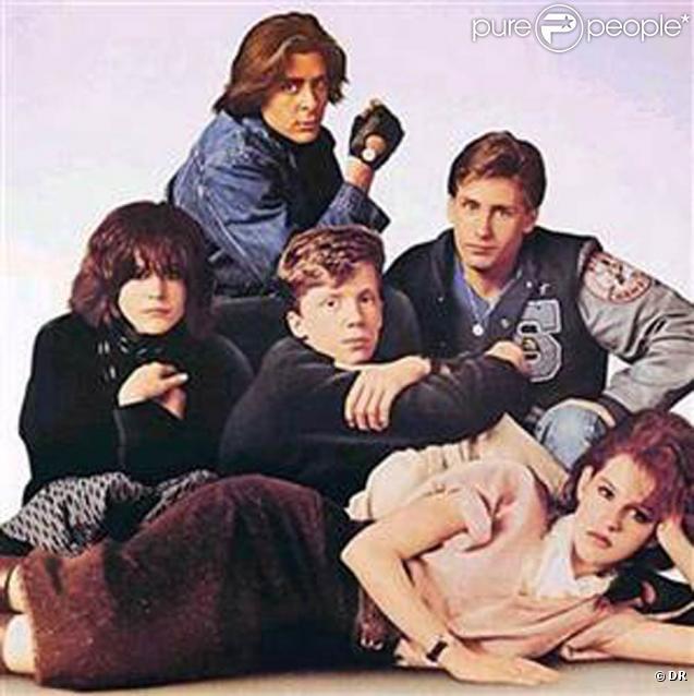 Des images de  The Breakfast Club , de John Hughes, sorti en 1985.