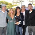 Laurent Baffie, Julie Zenatti, Stéphanie Fugain, Jean-Piere Castaldi et M. Pokora à l'inauguration de l'événement Coeur de Vies, à Paris, le 22 septembre 2010.