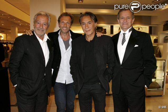 Pierre Arditi, Stéphane Freiss, Richard Berry et Francis Huster lors de l'inauguration du nouvel espace homme du Bon Marché, le 21 septembre à Paris
