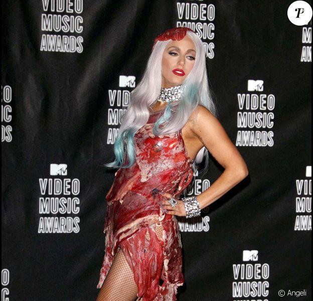 Lady Gaga à la cérémonie des MTV Video Music Awards, à Los Angeles, le 12 septembre 2010