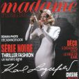 Karl Lagerfeld, rédacteur en chef du Madame Figaro du 25 septembre 2010