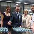 Victoria et Daniel de Suède en France le 27 septembre 2010 : le couple princier visite avec délice la chocolaterie de Patrick Roger à Sceaux