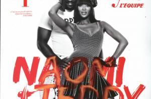 Quand Teddy Riner finit dans les bras... de Naomi Campbell !