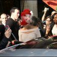 Rihanna faisant du shopping avec son petit-ami Matt Kemp à Paris, le 7 octobre 2010