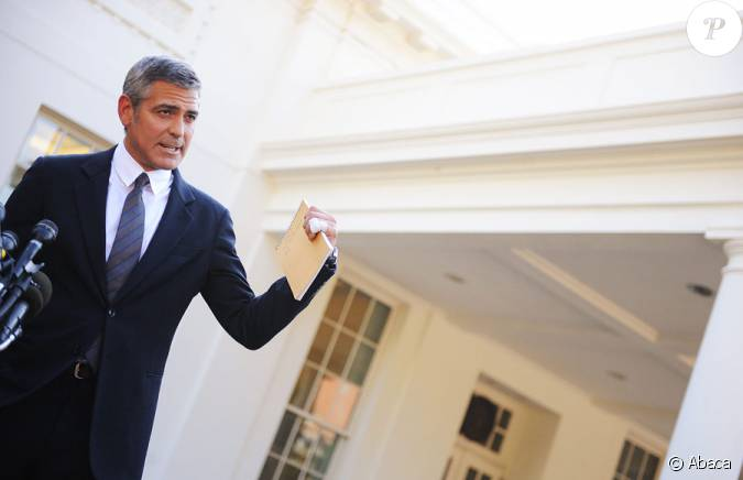 George clooney quittant la maison blanche washington for Au coeur de la maison blanche barack obama